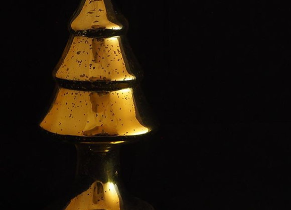 Gold Glass Standing Tree