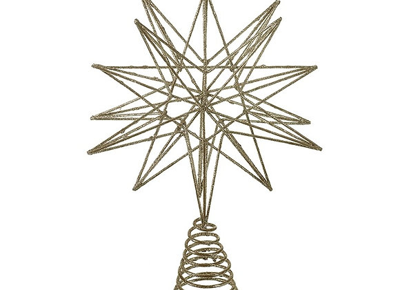 Gold Glitter Metal Star Tree Topper