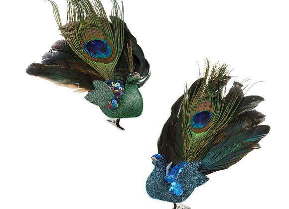 Peacock Feather Tree Clip