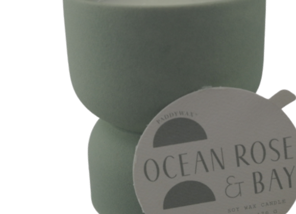 Paddywax Ocean Rose and Bay 6oz candle