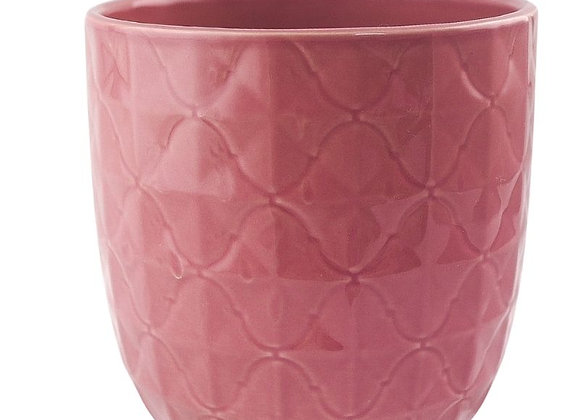 Deep Pink Textured Ceramic Plant Pot