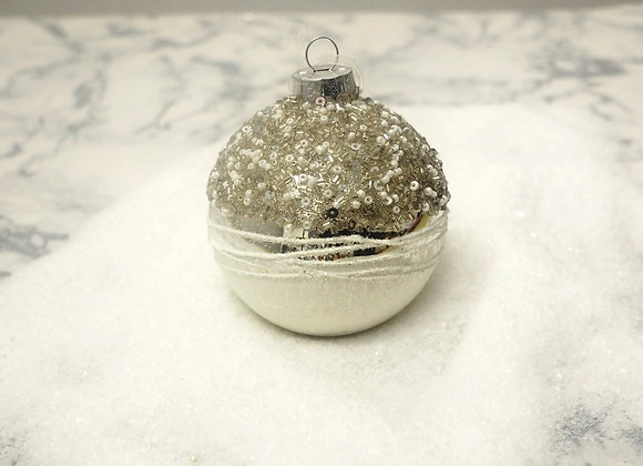 Set of 3 Glitter Bead Baubles