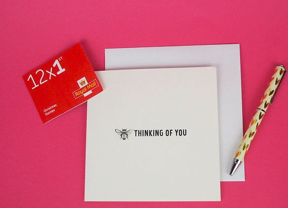 'Thinking Of You' bee greeting card