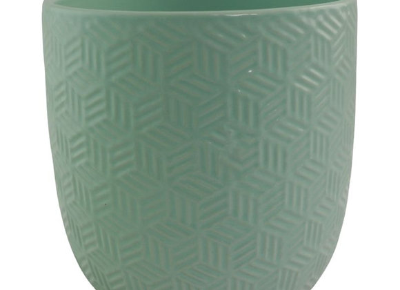 Mint Green Ceramic Plant Pot