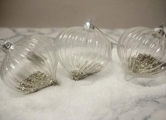 Glass Sparkle Filled Baubles