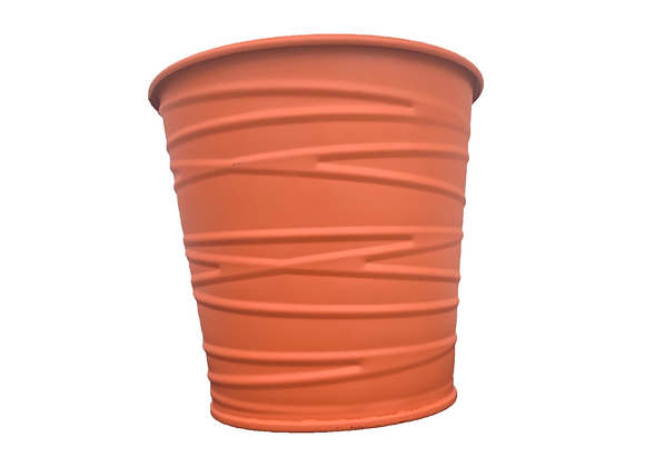 Terracotta Matte Finish Iron Plant Pot