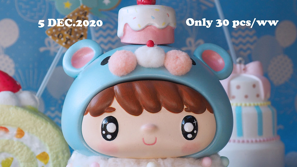 Limited Edition 1st Anniversary ToTeBaby Blue Teddy