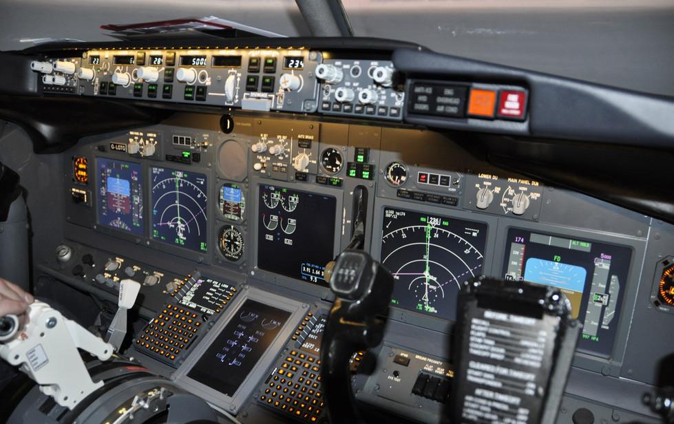 Boeing 737 flight-deck