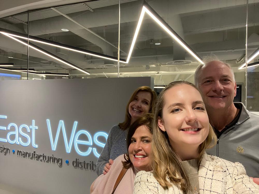 Selfie at East West Mfg.'s new office