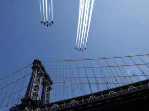 Blue Angels Fly Over Brings Joy to New Yorkers