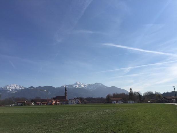 Übersee Bergblick
