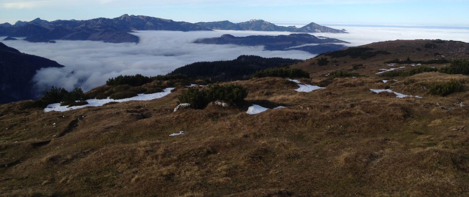 Kampenwandimpressionen bei Nebel