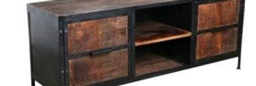 TV Konsole, Holz mit Metallrahmen