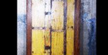 Tischplatte massiv aus altem Bootsholz, Füsse aus Holz