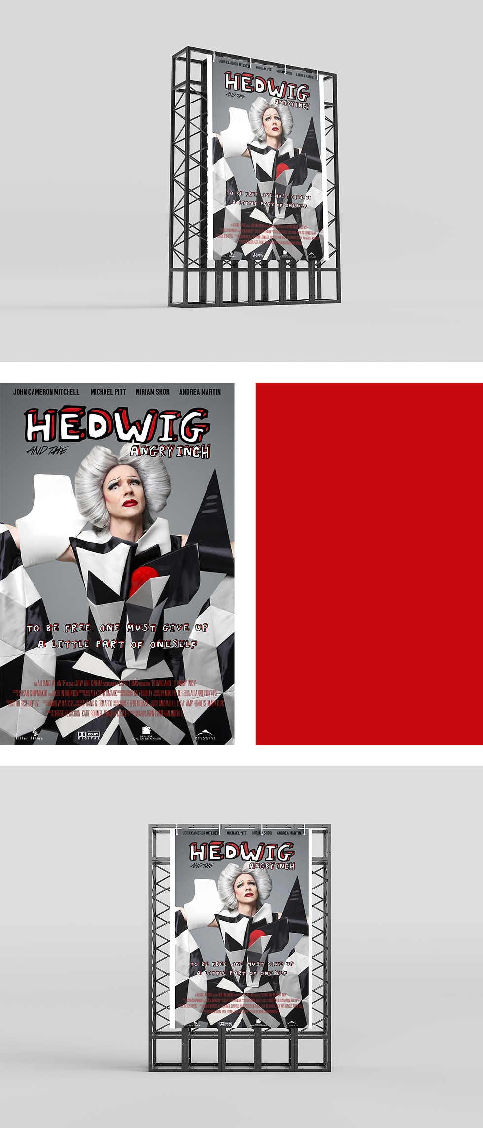 Design affiche film Hedwig and the angry inch