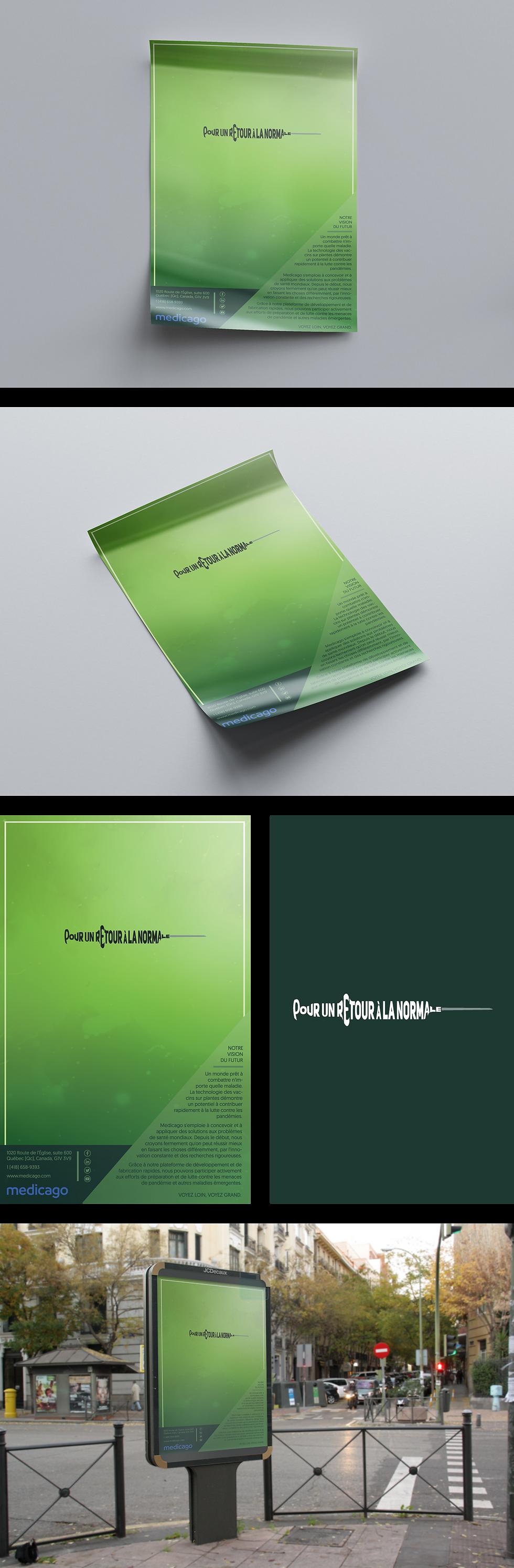 Design affiche Medicago