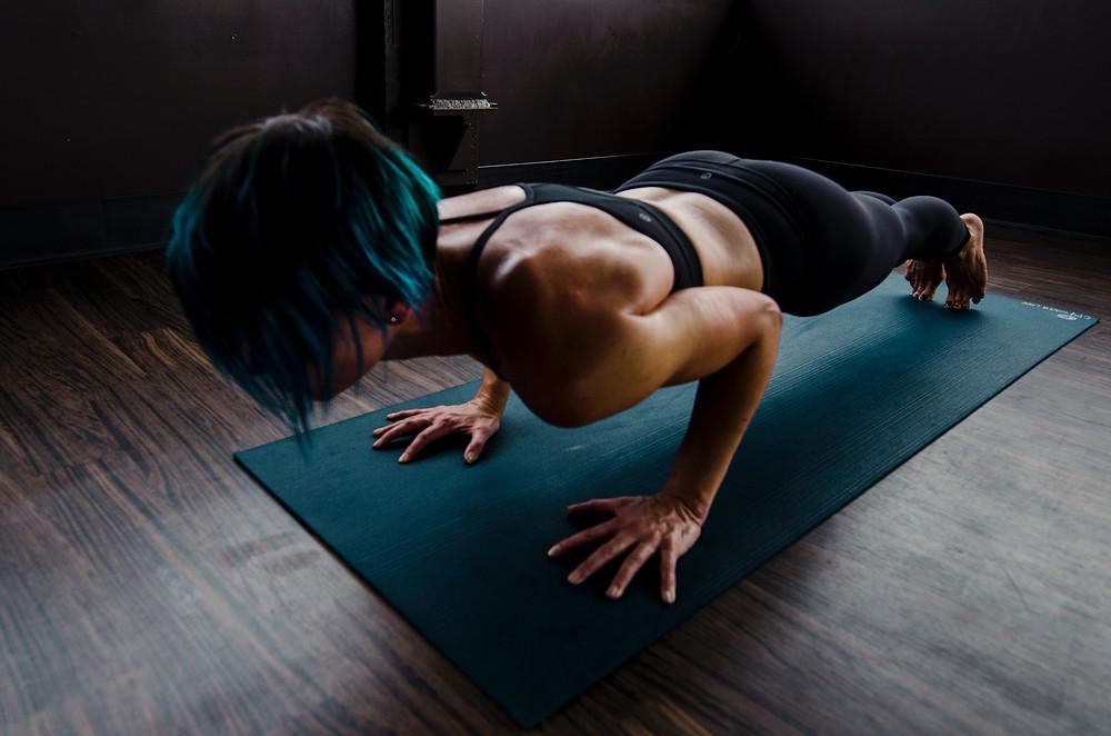 lady doing exercises