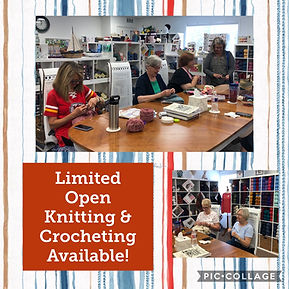 Customers knitting