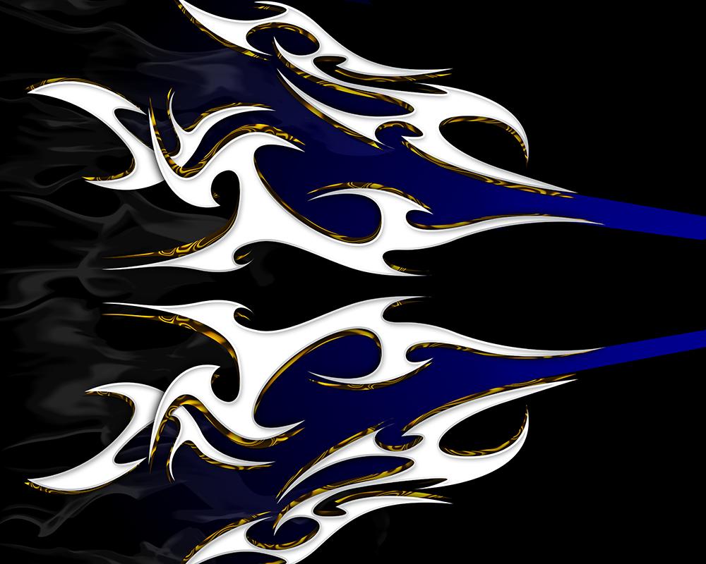 Tribal-Flamed-Azul