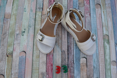 White Sandals Size 33
