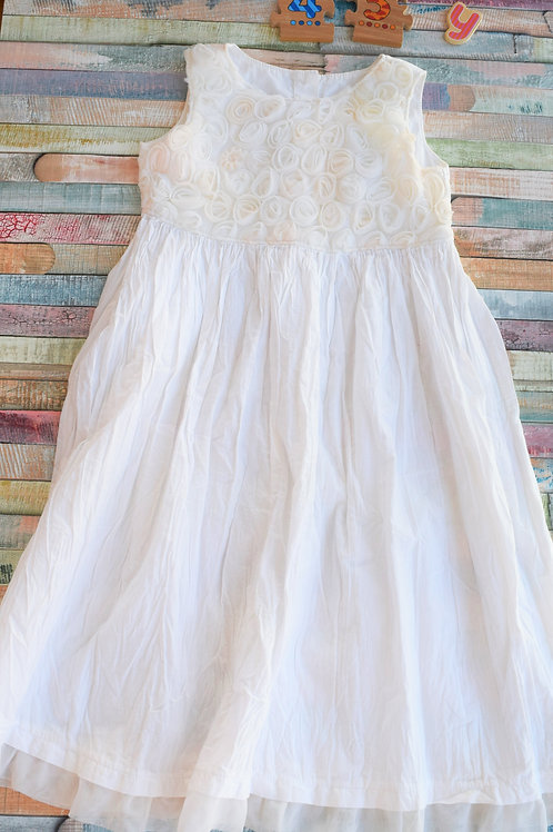 White Flower Dress 4-5 Years Old