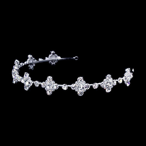 Dimond Shapes Headband Silver