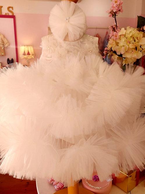 White Anne Marie Fluffy Dress