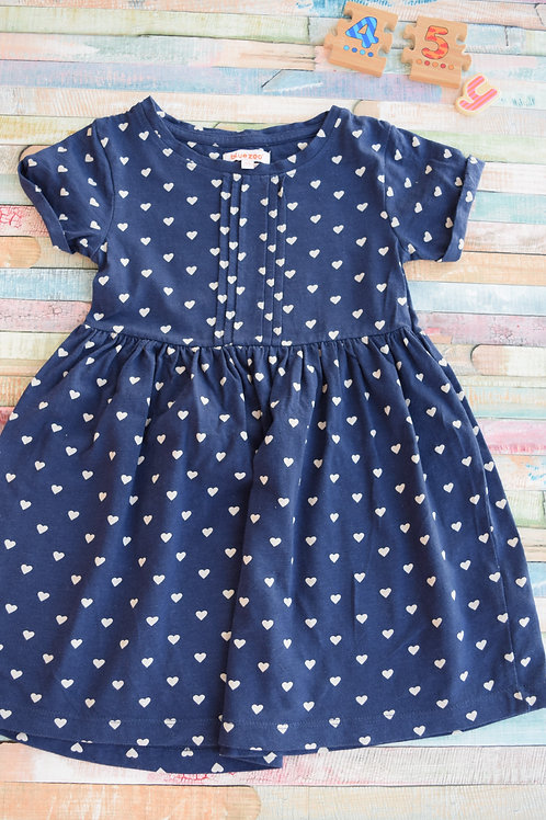 Bluezoo Heart Dress 4-5 Years Old