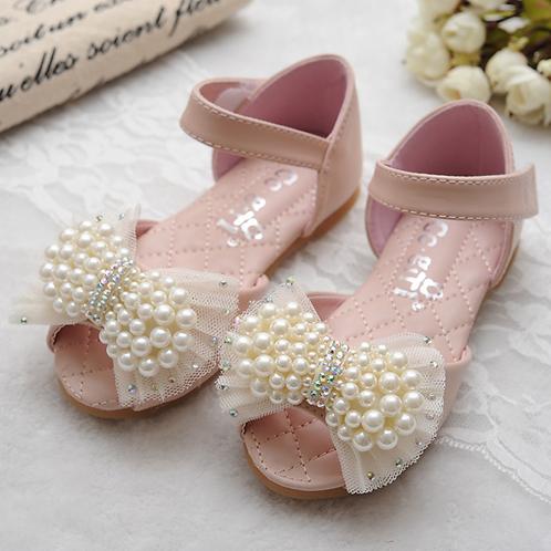 Ivory Pearls Princess Sandals with Rhinestones