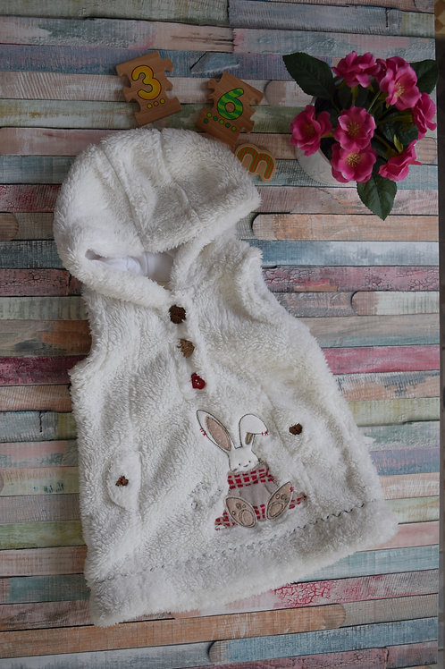 My Bunny Fluffy Vest With Hood