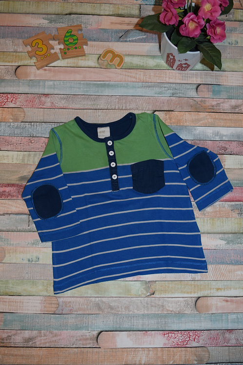 Blue and Green Blouse