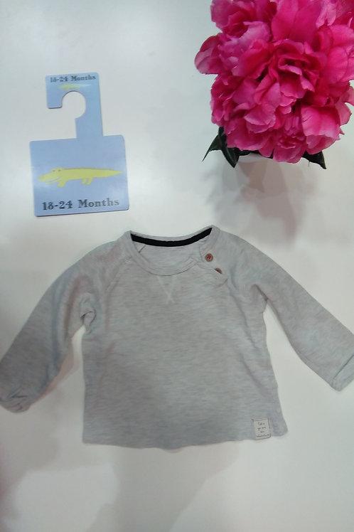 Long Sleeve Grey Blouse