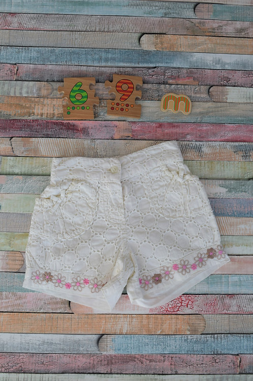 White Shorts 6-9 Months Old