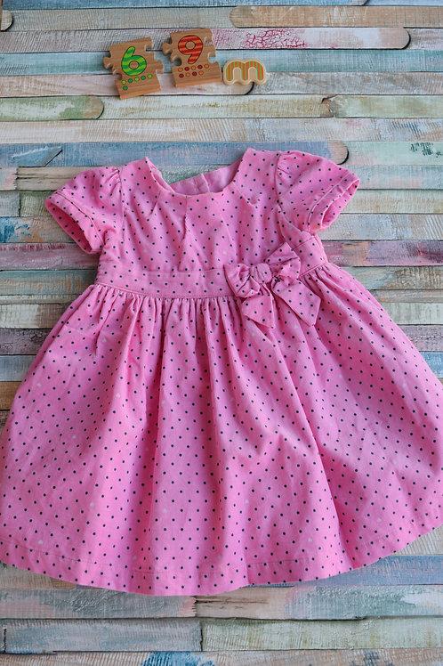 Mothercare Pink Polka Dots Dress 6-9 Months