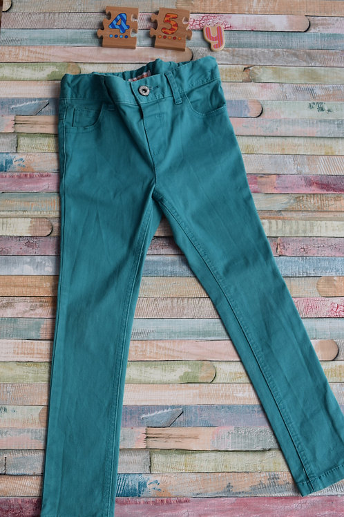 Long Turquoise Trousers 4-5 Years Old
