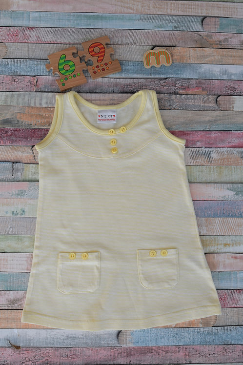 Next Yellow Cotton Dress 6-9 Months Old
