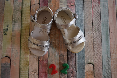 Silver Sandals Size 22