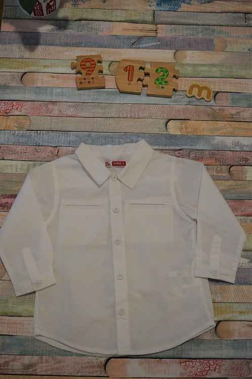 White Long Sleeve Shirt 9-12 Months