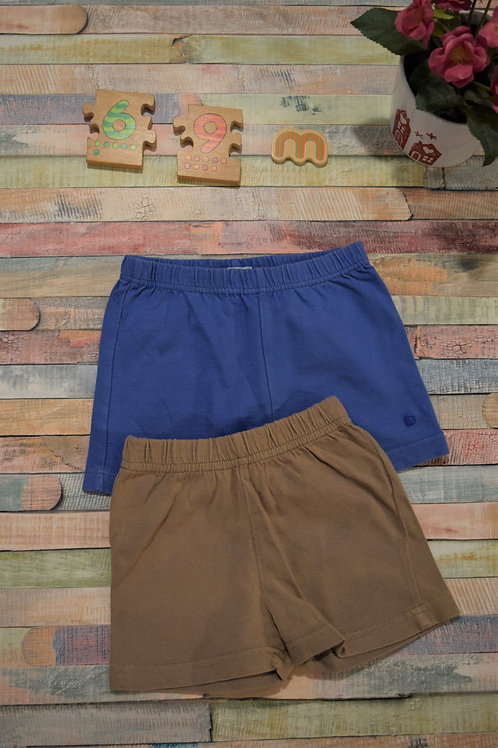 Two Cotton Shorts 6-9 Months Set