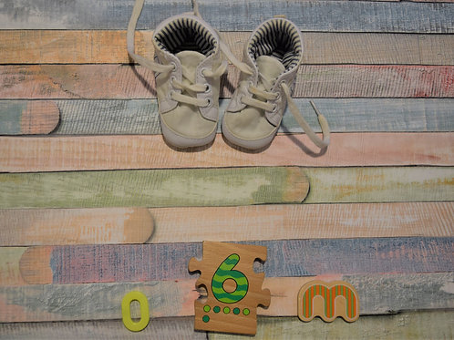 Yellow Baby Shoes 0-6 Months Old