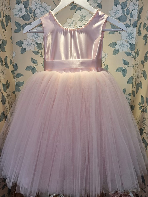 Pearls Baby Pink Knee Length Patricia Dress