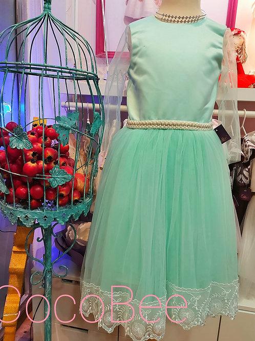 Little Princess Turquoise Party Dress
