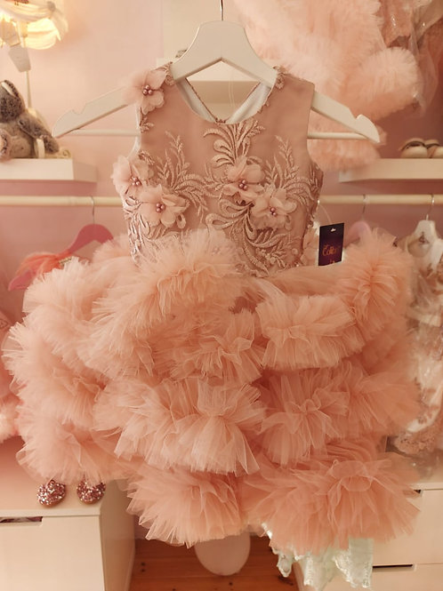 Anne Fluffy Dusty Pink Dress