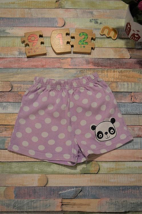 Panda Shorts 9-12 Months