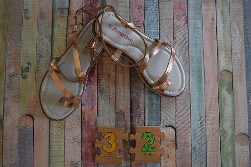 Gold Roman Sandals Size 32