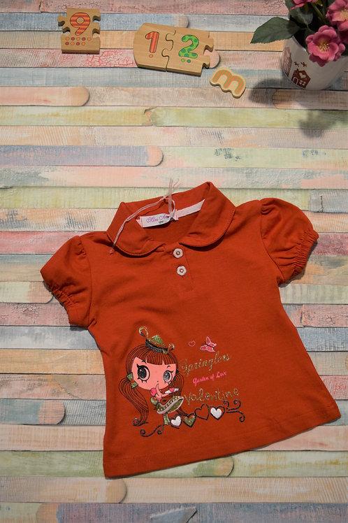 Red Tshirt Valentine 9-12 Months