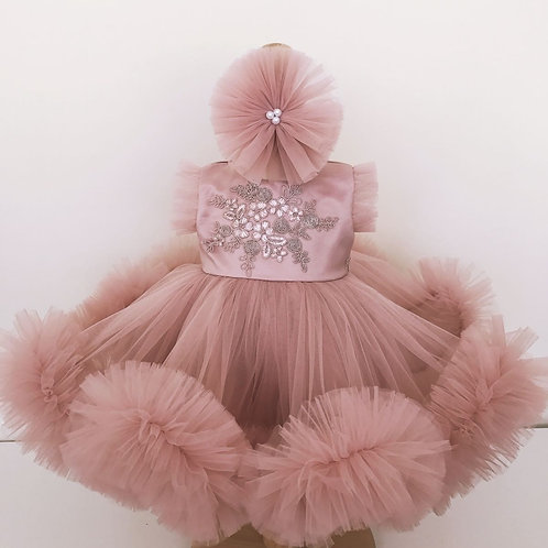 Kate Fluffy Dusty Pink Princess Dress