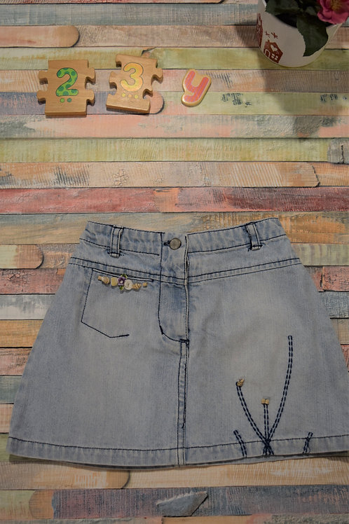 Jeans Skirt With Shells 2-3 Years Old