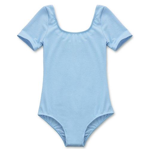 Leotard Stretchy Sleeve Blue