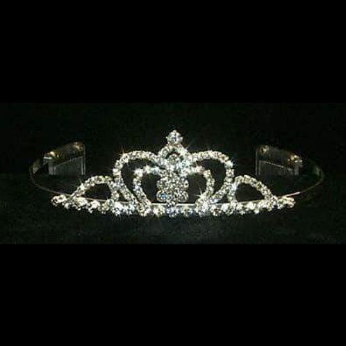 Crown Center Tiara Silver with Rhinestones